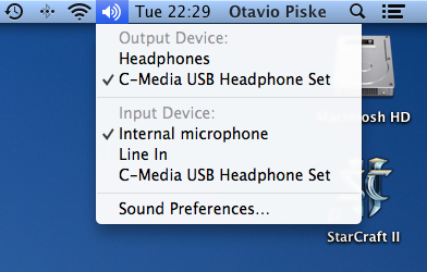 Sound options