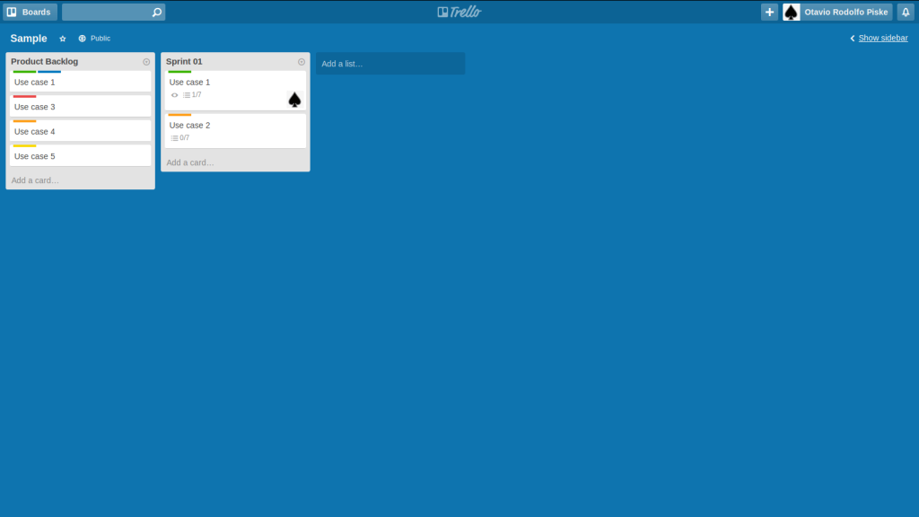 Sample Trello board